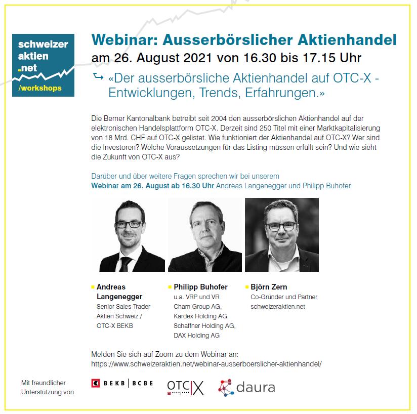 Webinar: Der ausserbörsliche Aktienhandel auf OTC-X @ Online Veranstaltung